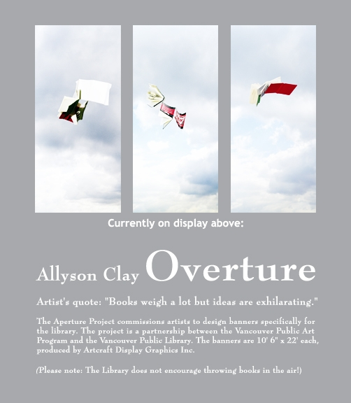 "Signage for ""Overture"" by Allyson Clay"