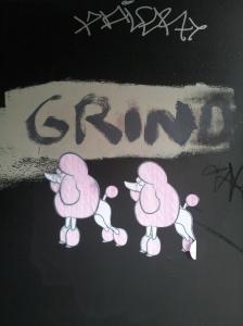 Poodle grafitti