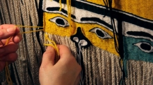 "Emilie Crewe, still  from ""Making Circles: The Chilkat Dancing Blanket"", HD video"