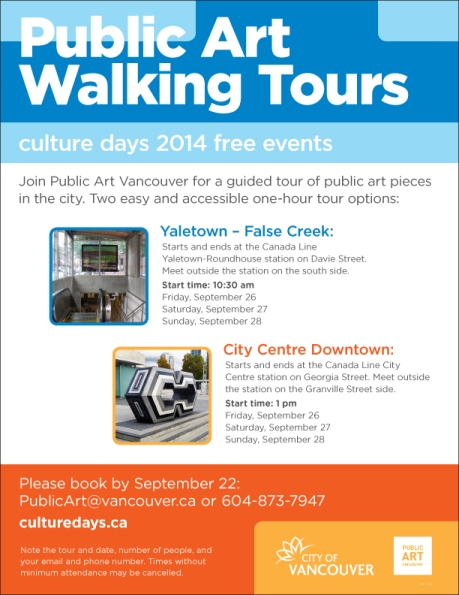 Public Art Walking Tours: Culture Days 2014 Free Events