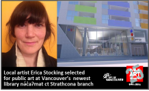 Local Artist Erica Stocking selected for public art commission at Vancouver's newest library nə́c̓aʔmat ct Strathcona branch