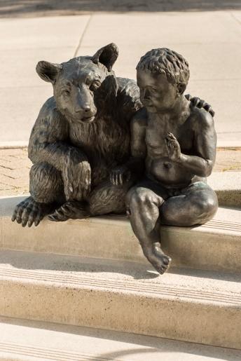 City of Vancouver Public Art Program – Peaceable Kingdom, 2008 (bear & boy detail) by Tom Dean. Photo SITE Photography