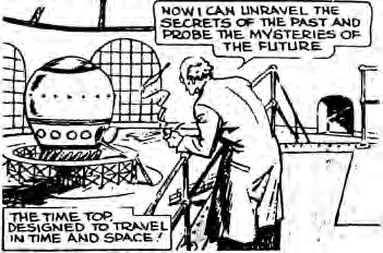 "From the ""Time Top"" comic strip by William Ritt and Clarence Gray, c. 1935"
