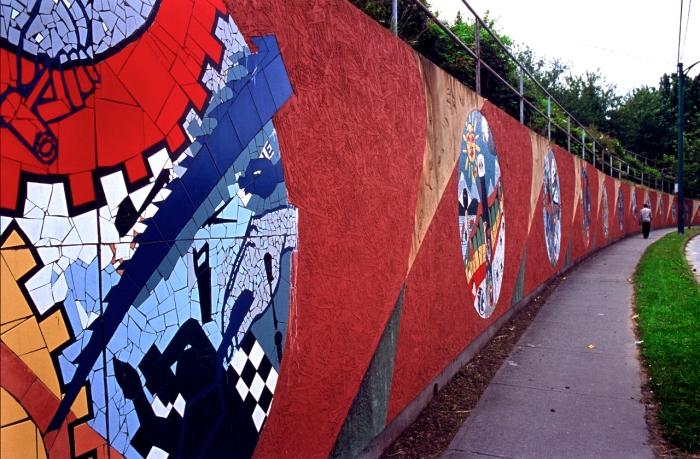 """Community Walls/Community Voices"", 2003. Photo: E. Rausenberg"