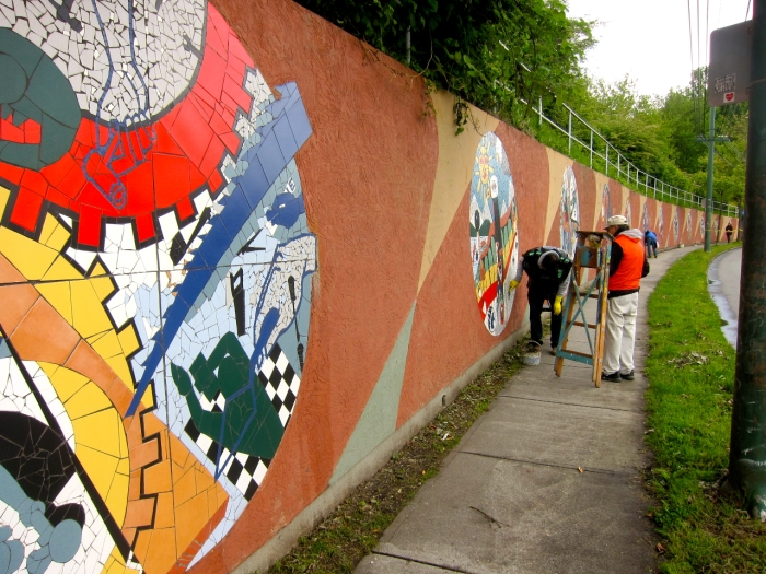 """""""Community Walls/Community Voices"""", 2003. Photo courtesy of the artist."""