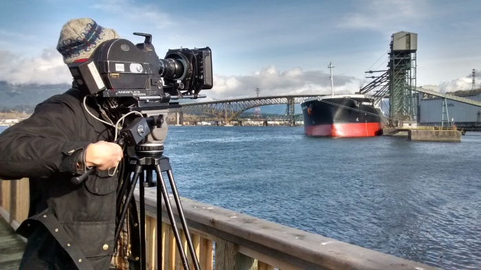 Curtis Grahauer LOW RES_filming the project for Coastal City at newbrightonpark photo credit Krista Loewen