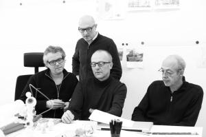Portrait of the artists. (Hans Hemmert, Axel Lieber, Thomas A. Schmidt und Georg Zey)photo credit Stefan Pielowli