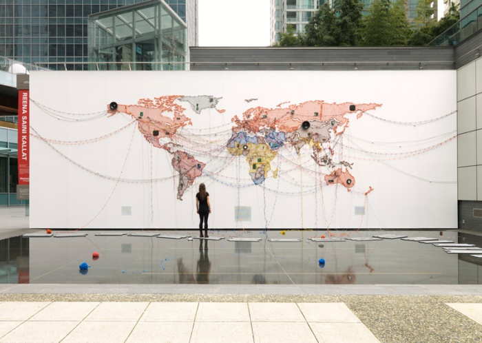 25in25: A Public Art Retrospective – Woven Chronicle by Reena Saini Kallat - Photo by Rachel Topham, Vancouver Art Gallery