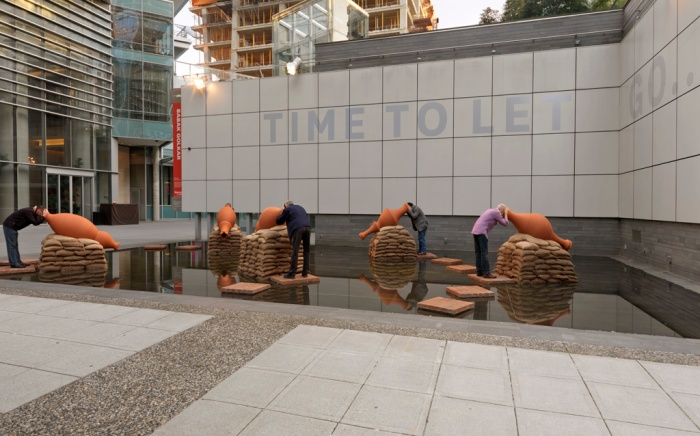 25in25: A Public Art Retrospective – Time to Let Go by Babak Golkar - Photo by Rachel Topham, Vancouver Art Gallery